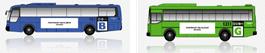 Blue & Green Bus