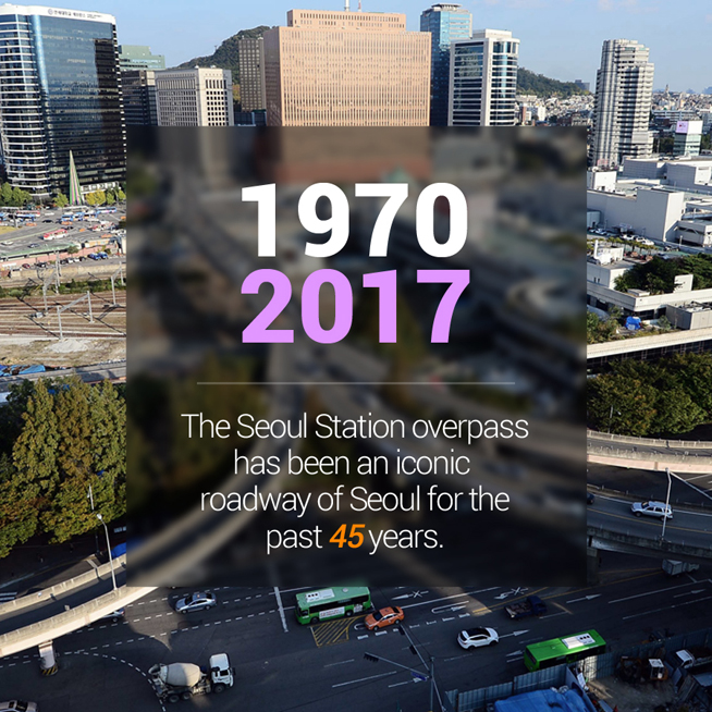 19702017 the seoul station overpass has been an iconic roadway of seoul for the past 45 years