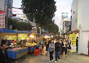 Previously crowded Jongno Street