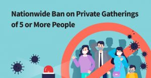 """Plan for Nationwide """"No Gatherings of 5 Persons or More"""" Policy"""