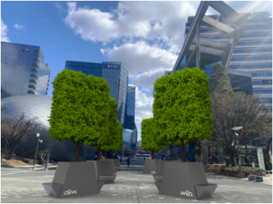 """Seoul to create eight more """"modular parks"""" with trees that provide shade over concrete grounds"""