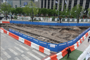 Joseon-era Archaeological Site in front of Gwanghwamun Square Disclosed to the Public